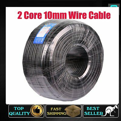 6M Of 2 Core 10mm Twin Cable Sheath Wire Battery Trailer Truck Solar Panel 12V