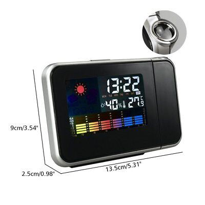 LCD Digital LED Projector Projection Alarm Clock Weather Thermometer Calendar
