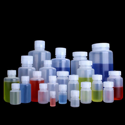 Small Wide Mouth Empty Plastic Liquid Bottle Sample Bottle/Vial/ Reagent Bottle