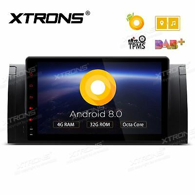 XTRONS Android 8.0 Car Radio Stereo Sat Nav DAB+ GPS Navi For BMW E39 E53 X5
