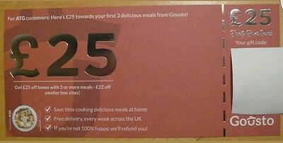 Gousto! £25 Off Box With 3 Or More Meals Voucher, New Customers Only