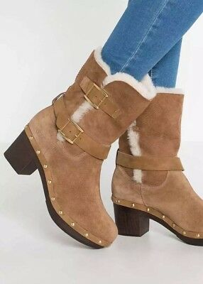 B 307# New UGG Break Suede Leather Do Women's Ankle Shoes Boots Uk 5.5