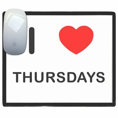I Love Heart Thursdays - Thin Pictoral Plastic Mouse Pad Mat BadgeBeast