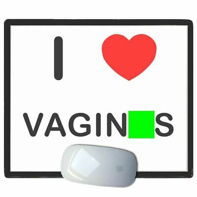 I Love Heart V*ginas - Thin Pictoral Plastic Mouse Pad Mat BadgeBeast
