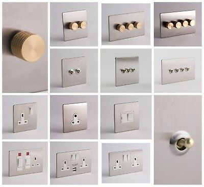 DESIGNER SOCKETS AND SWITCHES - Silver and Gold