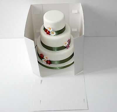 """10""""Tall Cake Box- Tiered stacked cake Box Giant Cupcakes with Clear Window"""