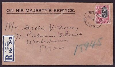 Gambia Gambia Cover with 6d Elephant Been worth one OHMS cover dated 1929