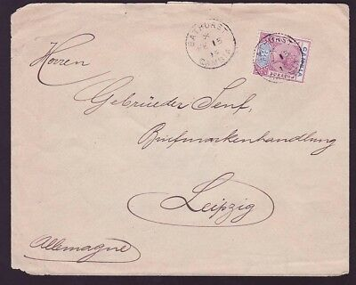 Gambia Gambia Cover to Germany with late QV 3D use canc Bathurst FEB 15 19 to L
