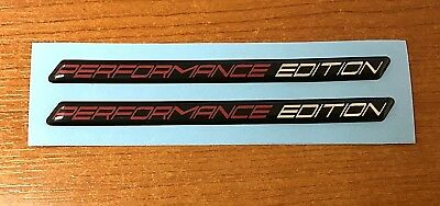PERFORMANCE EDITION Slimline Red & Chrome Stickers - HIGH GLOSS DOMED GEL