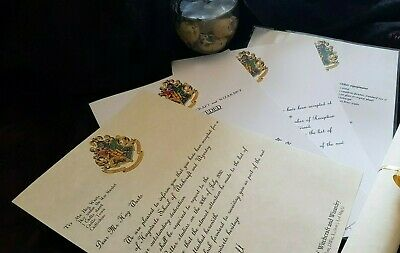 Personalised Harry Potter Hogwarts Acceptance / Experience day Letter Parchment