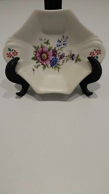 Vintage Axe Vale pottery oval shaped trinket dish