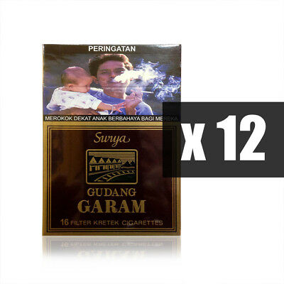 Gudang Garam Surya 16s Kretek Filtered Lots of 12 Packs