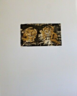 Henry Moore. Two Heads - Signed and Numbered Lithograph