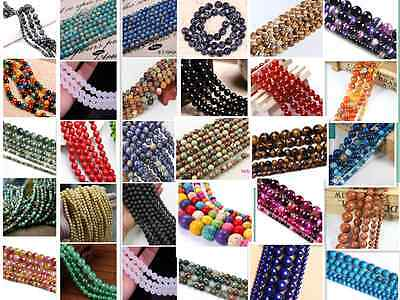 4mm 6mm 8mm 10mm Wholesale Lot Natural Gemstone Round DIY Spacer Loose Beads