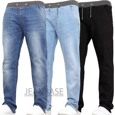 Kids Boys Stretch Jeans Casual Elasticated Easy Pull On Jogger Denim Ages 7-16
