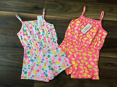NEW Girls PRIMARK Summer Holidays Playsuit Strappy Short Suit Age 3-4 or 4-5