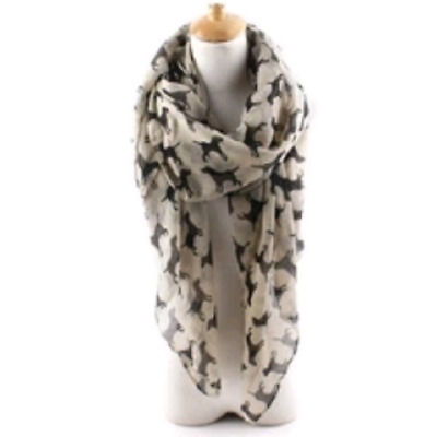 Black Labrador Dog Print Scarf Very Attractive Scarf Uk Seller Fast Despatch