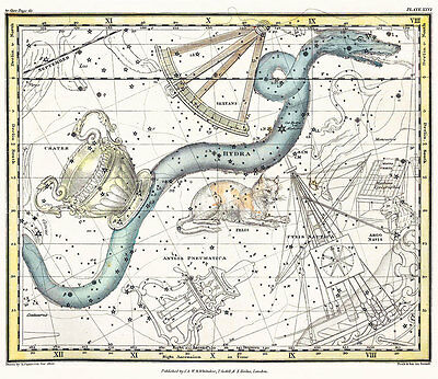 Astronomy Celestial Atlas Jamieson 1822 Plate-26 Art Paper or Canvas Print