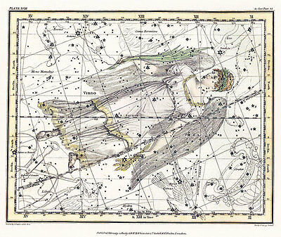 Astronomy Celestial Atlas Jamieson 1822 Plate-18 Art Paper or Canvas Print