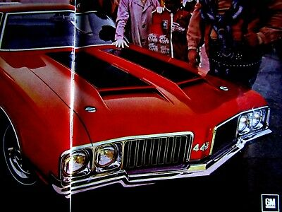 """1970 Oldsmobile 442 W30 Or 1970 Chevelle SS Original Print Ad 2 page 9 x 11"""""""