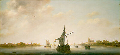 A View of the Maas at Dordrecht 1645 by Aelbert Cuyp 75cm x 34.8cm Canvas Print