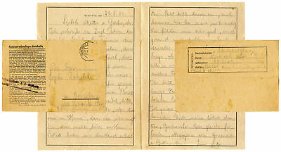 WWII Letter From a Prisoner at Auschwitz Concentration