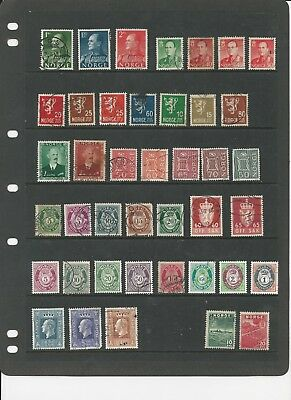 NORWAY- COLLECTION OF USED STAMPS (2 PHOTOS) - #NOR3ab