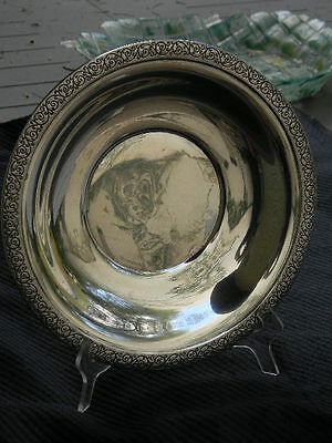 """9 1/4""""dia - Sterling - Plate / Dish - Spanish Lace - Pattern - Wallace Silver"""