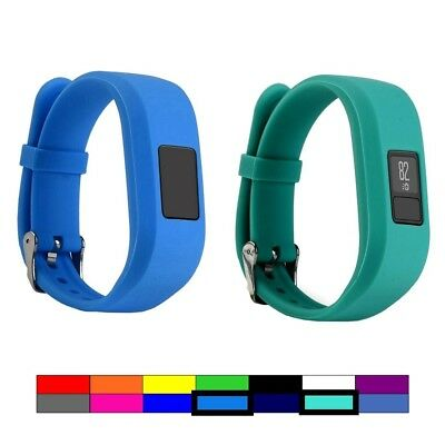 (2PCS - BLUE & TEAL) - For Garmin Vivofit 3 and Vivofit JR, Dunfire Colourful