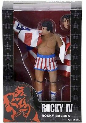 Figur action 18cm rocky Balboa USA-Flagge rocky 40th Series 2 NECA Figure new