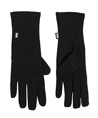 (Small, Black) - Helly Hansen Warm Glove Liner. Delivery is Free