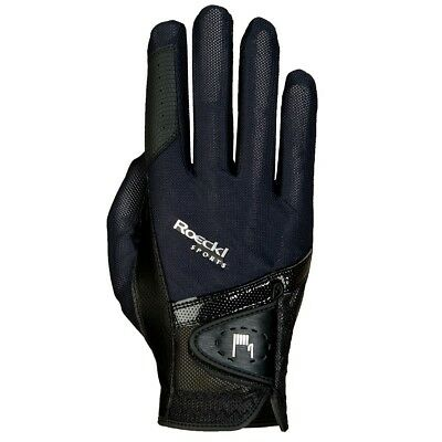 (7, Black) - Roeckl - riding gloves MADRID. Brand New
