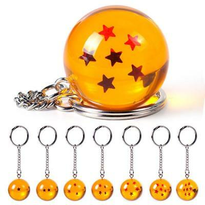 Dragon Ball Z DBZ Cosplay·Crystal Ball 7 Star Keychain Keyring Pendant Geschenk