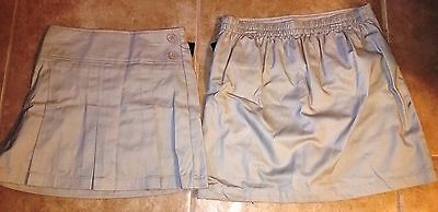 Girls Khaki Uniform Skort Size 8 1/2 plus  Husky NEW