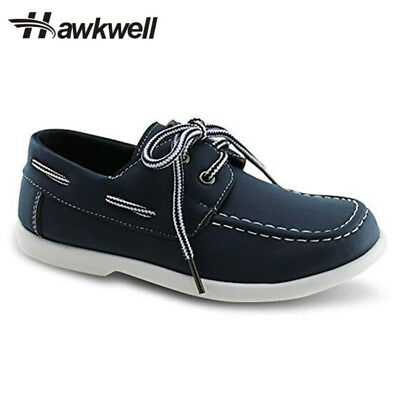 Hawkwell Boys Solid Flats Students School Shoes Kids Sneakers Breathable Lace Up