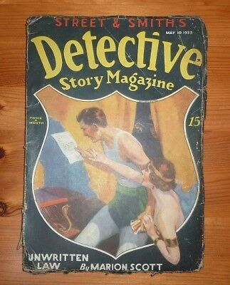 Detective Story Magagazine 10Th May 1933 Unwritten Law By Marion Scott