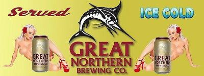 GREAT NORTHERN MANCAVE BANNER Work Shop Garage Shed Bar Whisky