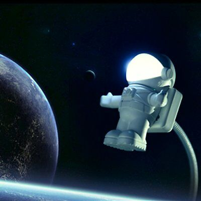 Energy Saving Astronaut Spaceman USB LED Adjustable Night Light Laptop Lamp IH