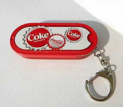 "Coca Cola Metal Tin Keychain Key Ring Chain 3.5"" Long"