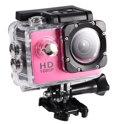 (Pink) - VBESTLIFE Action Camera, Waterproof Cam 5.1cm LCD Screen LCD Screen