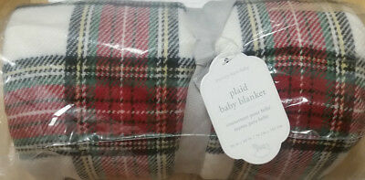 Pottery Barn Kids PLAID Baby Stroller Blanket NEW
