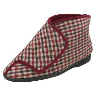 Mens Balmoral Chequered Bootee Slippers Gawci