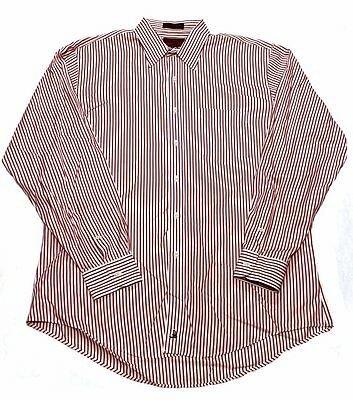 Gitman Bros Nordstrom Mens Dress Shirt Striped Burgundy 16 34 Spread