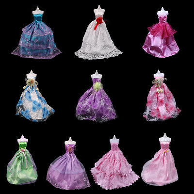 Fashion handmake Wedding Dress Fashion Clothing Gown For Barbie dol BG