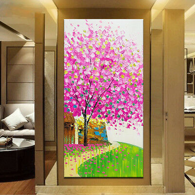 Hand Painted Oil Paintings On Canvas Modern Abstract Flower Tree Oil Paintings