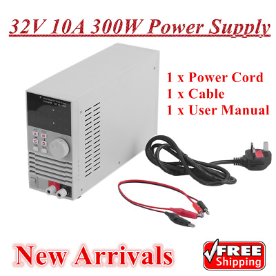 New Arrivals Variable Linear Adjustable Lab DC Bench Power Supply 0-32V 0-10A UK