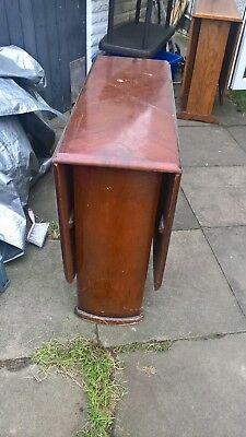 Used antique drop leaf table 91cm wide, 148cm length 73cm high- when fully open.