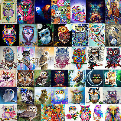 DIY Owl 5D Diamond Painting Embroidery Animal Cross Crafts Stitch Kit Decor Gift