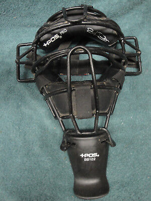 +Pos Pro Umpire Mask With Bb102 Throat Protector