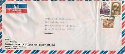 Lettre Cover China Clouded University Iowa Cheng Kung